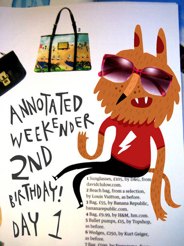 Annotated Weekenders 2nd Birthday Day 1